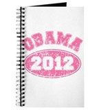 OBAMA 2012 Pink Faded Journal