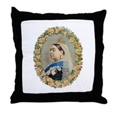 Queen Victoria Throw Pillow