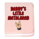 Daddy's Little Metalhead baby blanket