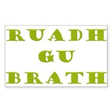 Gaelic Redheads Forever Green Sticker (Rectangle 1