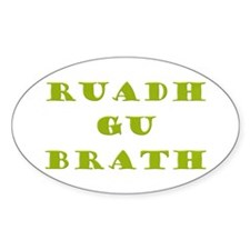Gaelic Redheads Forever Green Sticker (Oval 50 pk)