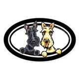 Black n Wheaten Scottie Decal