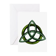 Triquetra Green Greeting Cards (Pk of 20)