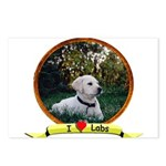 lab puppy Postcards (Package of 8)