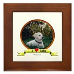 lab puppy Framed Tile