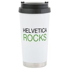 Helvetica Rocks Ceramic Travel Mug