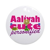 Cute Aaliyah Ornament (Round)
