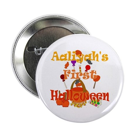 "Aaliyah's First Halloween 2.25"" Button"