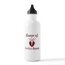 Queen Of Broken Hearts Water Bottle