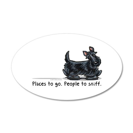 Scottie Places 20x12 Oval Wall Decal