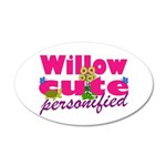 Cute Willow 22x14 Oval Wall Peel