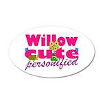 Cute Willow 38.5 x 24.5 Oval Wall Peel