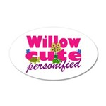 Cute Willow 38.5 x 24.5 Oval Wall Peel