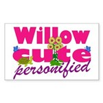Cute Willow Sticker (Rectangle)
