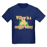 Willow is a Snuggle Bunny Kids Dark T-Shirt