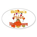 First Halloween Willow Sticker (Oval)