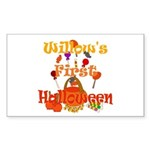 First Halloween Willow Sticker (Rectangle)