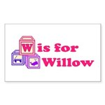Baby Blocks Willow Sticker (Rectangle 10 pk)