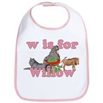W is for Willow Bib