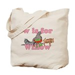 W is for Willow Tote Bag