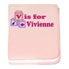 Baby Blocks Vivienne baby blanket