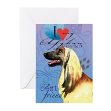 Afghan Hound Greeting Cards (Pk of 10)