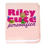 Cute Riley baby blanket