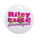 Cute Riley Ornament (Round)