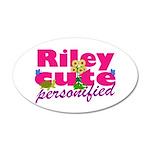 Cute Riley 22x14 Oval Wall Peel