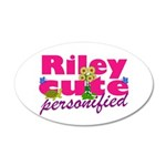 Cute Riley 22x14 Oval Wall Peel