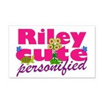 Cute Riley 22x14 Wall Peel