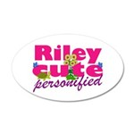 Cute Riley 38.5 x 24.5 Oval Wall Peel