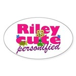 Cute Riley Sticker (Oval)