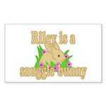 Riley is a Snuggle Bunny Sticker (Rectangle 50 pk)