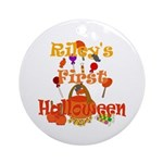 First Halloween Riley Ornament (Round)