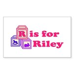 Baby Blocks Riley Sticker (Rectangle 10 pk)