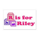Baby Blocks Riley 22x14 Wall Peel