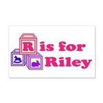 Baby Blocks Riley 22x14 Wall Peel