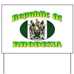 Republic of Rhodesia Yard Sign