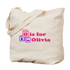 Baby Blocks Olivia Tote Bag
