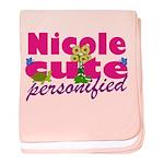 Cute Nicole baby blanket