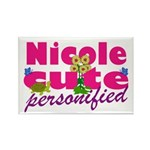 Cute Nicole Rectangle Magnet (10 pack)