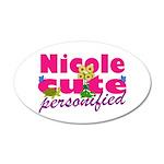 Cute Nicole 22x14 Oval Wall Peel