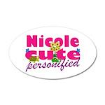 Cute Nicole 38.5 x 24.5 Oval Wall Peel