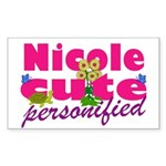 Cute Nicole Sticker (Rectangle 10 pk)