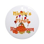First Halloween Nicole Ornament (Round)