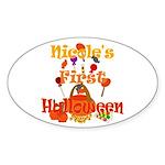 First Halloween Nicole Sticker (Oval)
