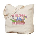 N is for Nicole Tote Bag