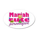 Cute Mariah 22x14 Oval Wall Peel