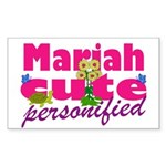 Cute Mariah Sticker (Rectangle 50 pk)